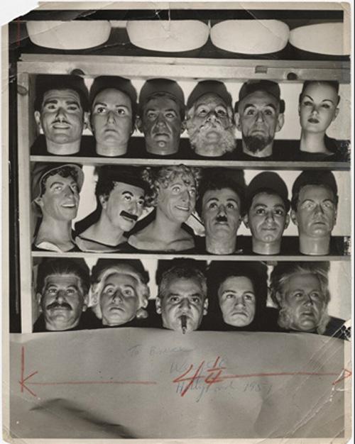Weegee-wax-heads